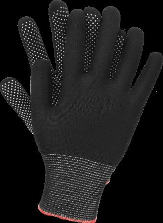 Pracovní rukavice s terčíky DOT SIMPLE black