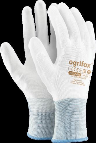 Pracovní rukavice ochranné bílé REPO OX