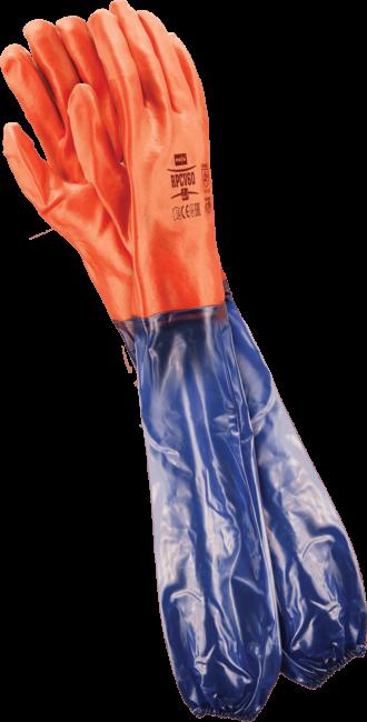 Pracovní rukavice PVC 60 cm