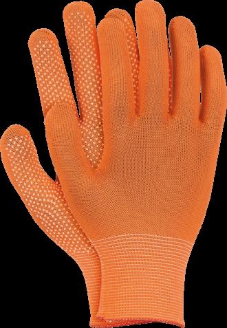 Pracovní rukavice s terčíky DOT SIMPLE ORANGE