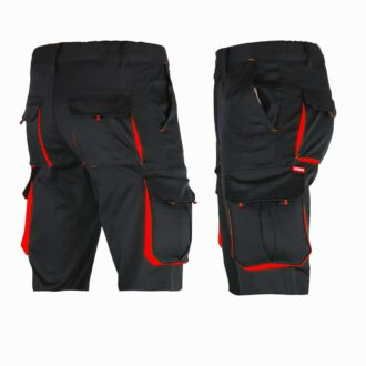 Montérkové kraťasy s elastanem MANNLAND BLACK RED