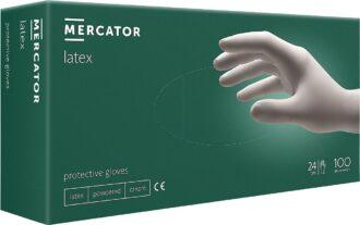 Jednorázové latexové rukavice 100ks MERCATOR LATEX pudrované
