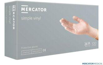 Jednorázové Vinylové rukavice 100ks MERCATOR pudrované