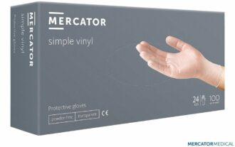 Jednorázové Vinylové rukavice 100ks MERCATOR nepudrované