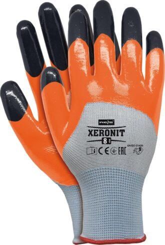 Pracovní rukavice nitrilové XERONIT ORANGE
