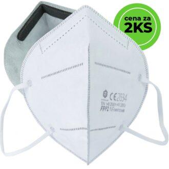 Respirátor HALF bez výdechového ventilu FFP2 cena za 2ks balení