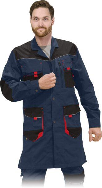 Pracovní plášť montérkové PROFI NAVY RED 2.0