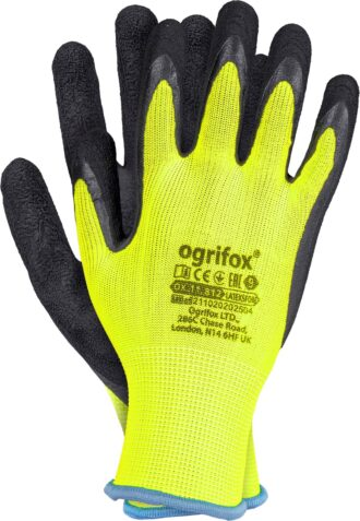 Latexové rukavice FLUO OX YELLOW