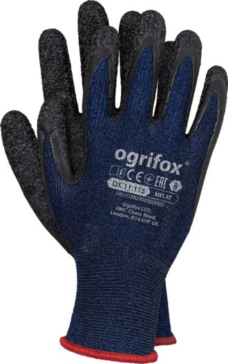 Pracovní rukavice máčené v latexu SPANDEX OX NAVY