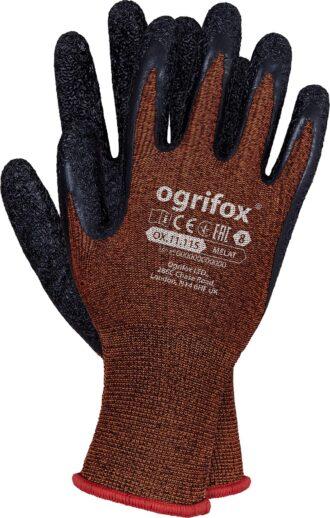 Pracovní rukavice máčené v latexu SPANDEX OX ORANGE