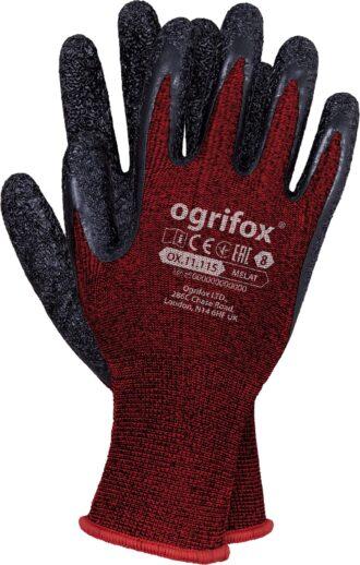 Pracovní rukavice máčené v latexu SPANDEX OX RED