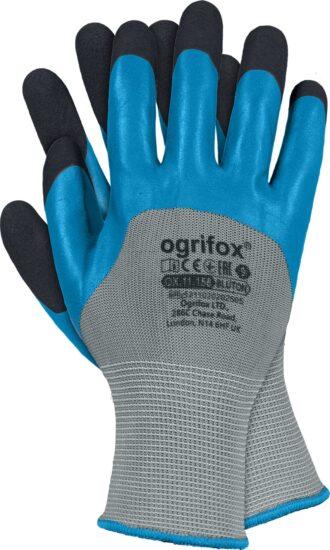 Pracovní rukavice máčené v dvojitém pěnovém latexu BLUE OX