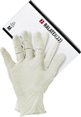 Jednorázové chirurgické pracovní rukavice 100ks LATEX 22