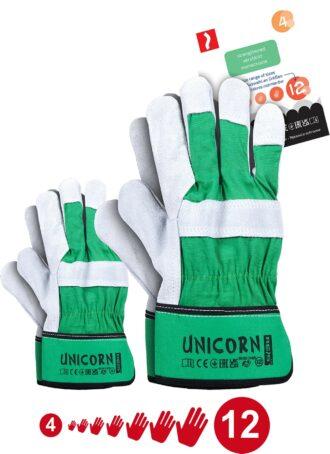 Pracovní kombinované rukavice UNICORN velikost 4 až 12