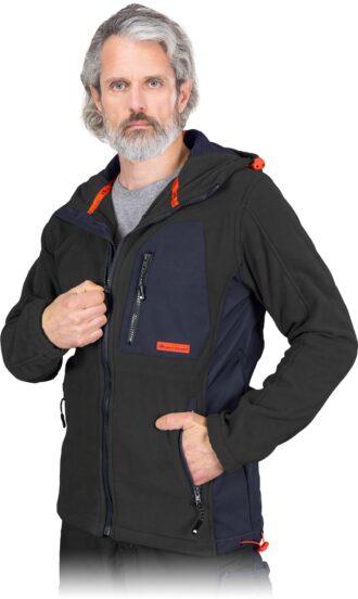 Pracovní fleecová bunda s kapucí NEWAG BLACK